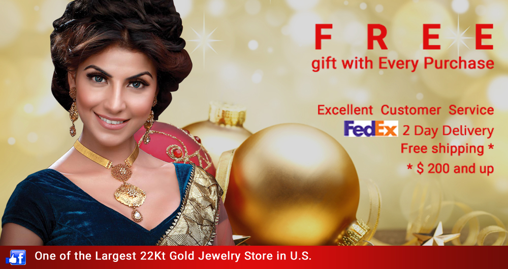 Online 22k Karat Gold Indian Jewelry Shop Zaveri Bazaar Jewelers Asia Jewelers Com Specialize In 22 Karat Gold Diamond Star Signity Necklace Set Earrings Bangles And More
