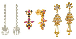 22K Gold Earrings - Indian Collection