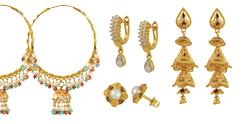 22K Gold Earrings Collection