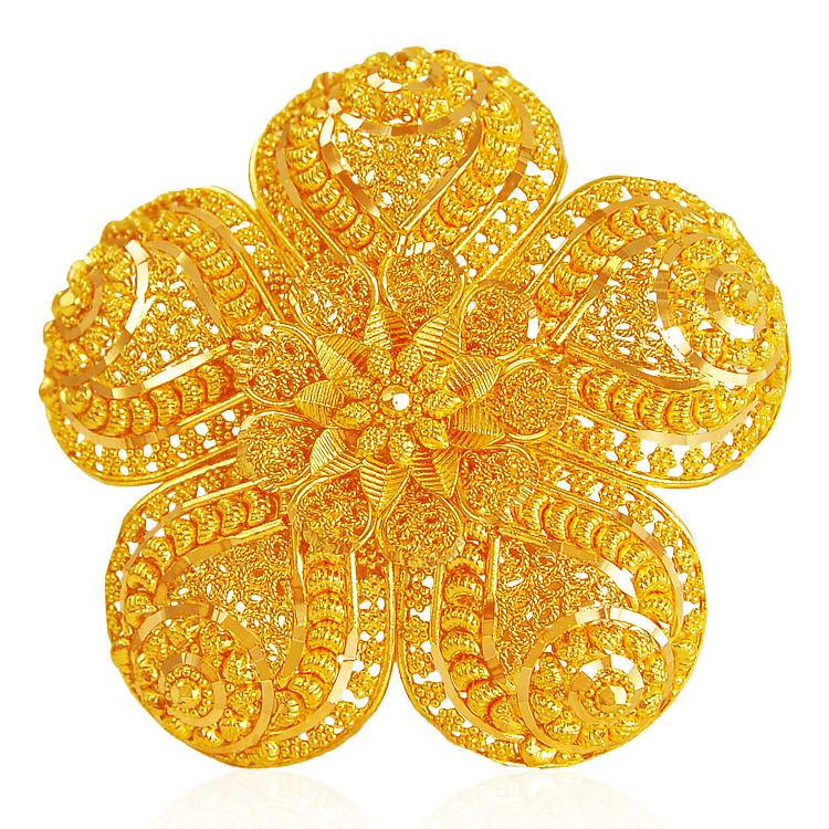 22 karat gold bridal ring ajri62762 22k gold. Black Bedroom Furniture Sets. Home Design Ideas