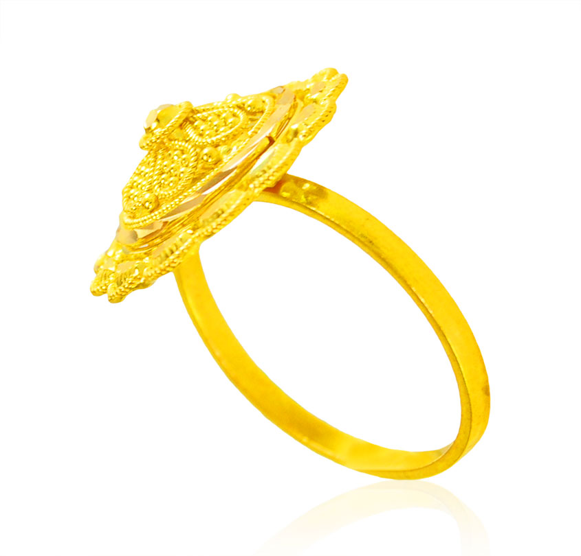 [ 22K Gold Rings > 22Kt Gold Ladies Filigree Ring  ]
