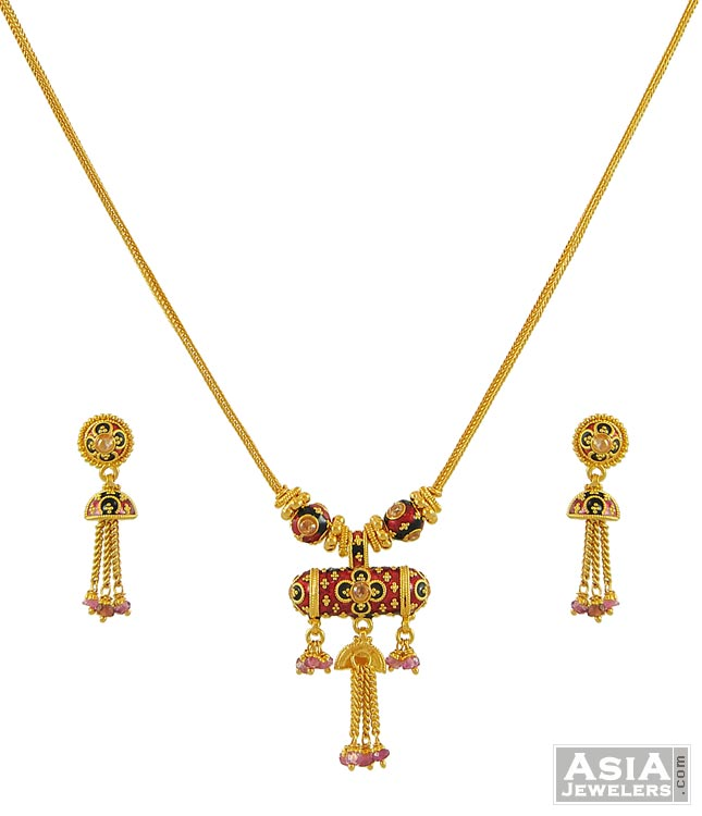 Meenakari Designer Necklace Set(22k)