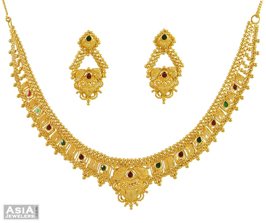 Indian meenakari necklace Set