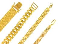 Gold Bracelets 22k Mens