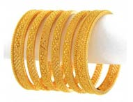 Gold Bangles >  Gold Bangle Sets >
