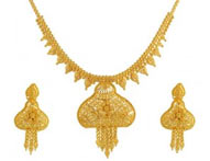 Necklace Earring Sets >  22K Gold Necklace Sets >