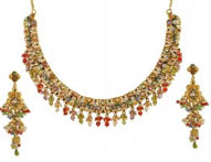 Necklace Earring Sets >  22K Antique Necklace Sets >