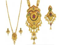 Necklace Earring Sets >  22K Necklace Sets (Long) >