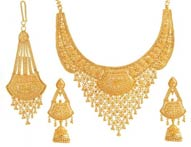 Necklace Earring Sets >  22K Necklace Set ( Big ) >