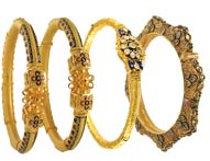 Gold Bangles >  22K Antique Bangles >