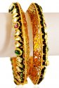 22KT Gold Antique Kada(2pcs) - Click here to buy online - 4,308 only..