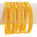 Click here to View - 22karat Gold Bangles Set(set of 6)