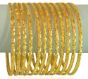 Click here to View - 22K Gold Machine Bangles Set of 12