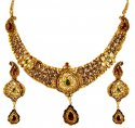 Click here to View - 22kt Gold Antique Necklace Set