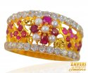 Click here to View - 22kt Gold Color Stone Band