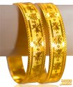 Click here to View - 22K Gold Machine Bangles (2Pcs)