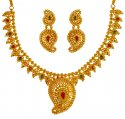 22KT Gold Precious Stones Set - Click here to buy online - 3,753 only..