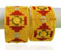 Click here to View - 22Kt Gold three tone Kada ( 2 PCS)