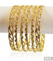 Two Tone Gold Bangles(6 PC) - Click here to buy online - 4,954 only..