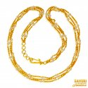 Click here to View - 22kt Gold Layered Pearls Chain