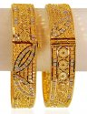 22K Gold 2 Tone Kada (2PC) - Click here to buy online - 2,983 only..