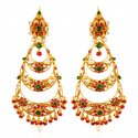 22Kt Gold Chand Bali Earrings - Click here to buy online - 2,232 only..