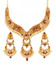 22K Gold Precious Stones Set - Click here to buy online - 3,870 only..