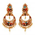 22Kt Gold Chandbali Earring - Click here to buy online - 1,773 only..