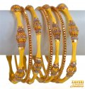Click here to View - 22k Gold Antique Bangles Set