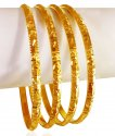 Click here to View - 22Kt Gold Bangles  Set (4 pc)