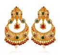 22Kt Gold Chand Bali Earrings - Click here to buy online - 2,024 only..
