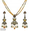 Victorian Polki Pendant Set - Click here to buy online - 2,744 only..