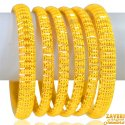 Click here to View - 22kt Gold  Bangles Set(6pcs)
