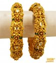 22K Gold Antique Kadas  - Click here to buy online - 4,849 only..