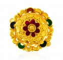 22kt Gold Fancy Meenakari Ring - Click here to buy online - 427 only..