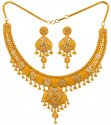 22K Gold Two Tone Necklace Set - Click here to buy online - 3,589 only..