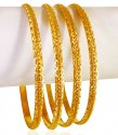 Click here to View - 22kt Yellow Gold Bangle Set (4 PC)