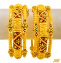 22kt Gold Filigree Kadas(set of 2) - Click here to buy online - 6,175 only..