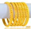 Click here to View - 22K Gold Bangles Set of 6