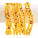 Click here to View - 22k Gold Meenakari Bangles Set