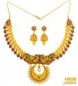 Click here to View - 22 kt Temple Necklace Set