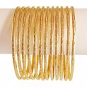 Gold Two Tone Bangles (6PCs) - Click here to buy online - 3,369 only..