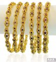 22k Antique Bangles(6 Pcs) - Click here to buy online - 4,656 only..