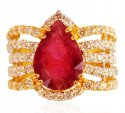 22 Karat Gold Designer Ring - Click here to buy online - 558 only..