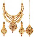 Click here to View - 22K Gold Precious Stones Set