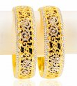 22k Gold Designer Rhodium Bangle  - Click here to buy online - 5,037 only..