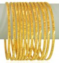 22KT Gold Bangles Set (12Pcs) - Click here to buy online - 6,660 only..