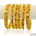 Click here to View - 22kAntique style Kundan Bangles Set