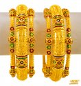 Click here to View - 22Kt Gold Meenakari Kada (2Pc)