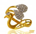 Click here to View - 22 kt Gold Peacock Ring